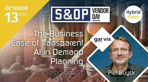 Garvis S&OP Vendor Day