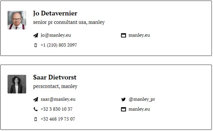 Press Contacts